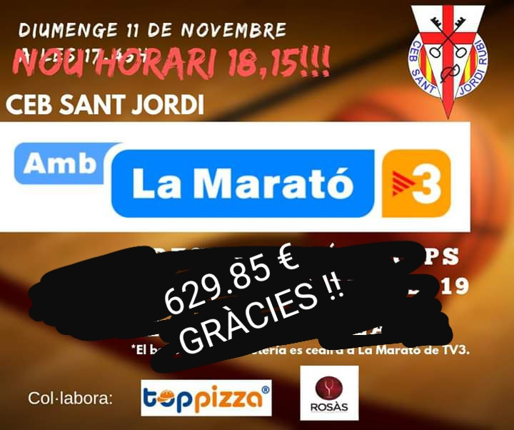 La marató de TV3 i el CEB Sant Jordi