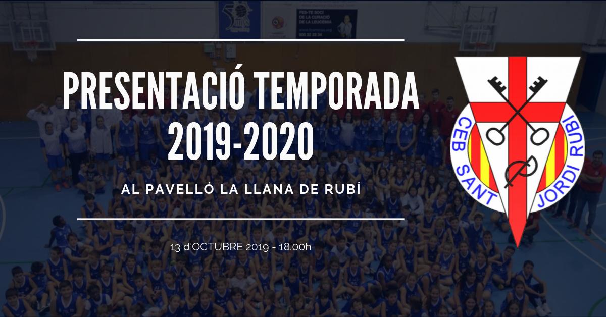 Presentació Temporada 2019-2020